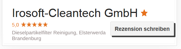 Irosoft-Cleantech-Google-Rezension-2